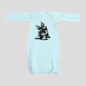 KiniArt Schnauzer Baby Gown