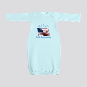 9/11 Tribute - Always Remember Baby Gown