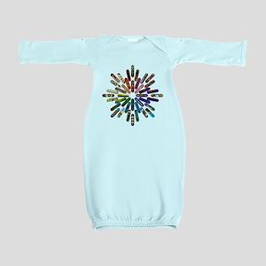 Skateboard Art Mandala Baby Gown
