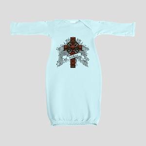 Wallace Tartan Cross Baby Gown