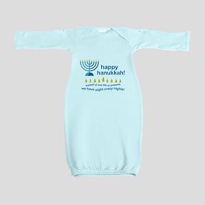 Happy Hanukkah Baby Gown