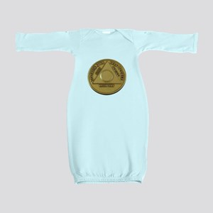 Alcoholics Anonymous Anniversary Chip Baby Gown