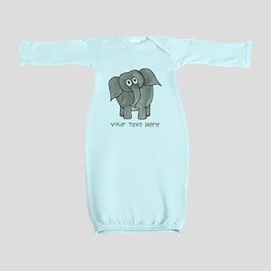 Elephant. Custom Text. Baby Gown