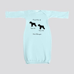 2 Schauzers - Cropped Tails/Natural Ears Baby Gown