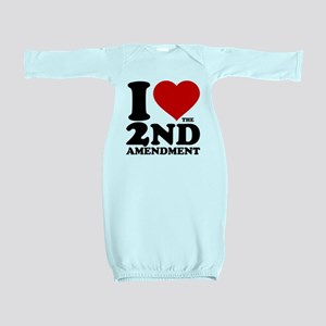 I Heart the 2nd Amendment Baby Gown