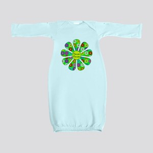 Cool Flower Power Baby Gown