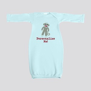 Classic Sock Monkey Baby Gown