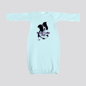 border collie dad Baby Gown