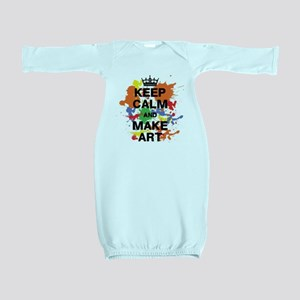 Keep Calm and Make Art Baby Gown