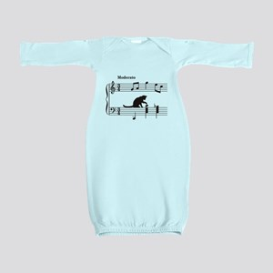 Cat Toying with Note v.2 Baby Gown