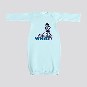 Girl Hockey Player Baby Gown