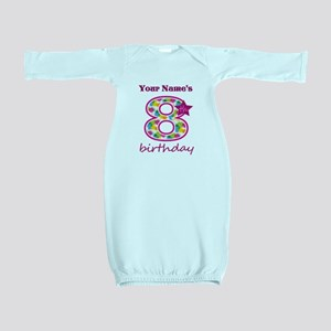 8th Birthday Splat - Personalized Baby Gown