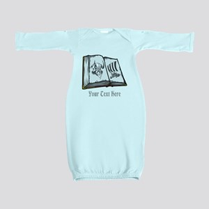 Viking Book and Text. Baby Gown