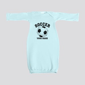 Personalized Name Soccer Baby Gown