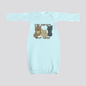Personalized Cat Person Baby Gown