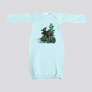 Bull moose art Baby Gown