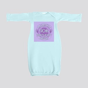 90th Birthday For Mom (Floral) Baby Gown