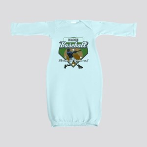 Personalized Home Run Time Baby Gown
