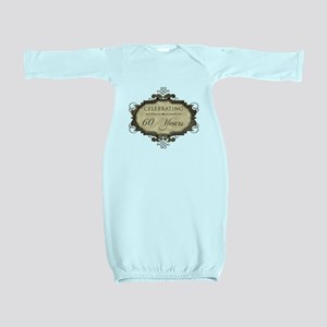 60th Wedding Aniversary (Rustic) Baby Gown