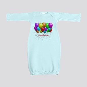 Happy Birthday Balloons Baby Gown