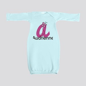 Personalized Monogram Letter A Butterfly Baby Gown
