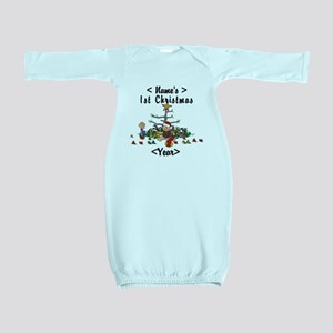 Personalize 1st Christmas Baby Gown