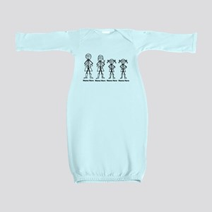 Personalized Super Family 2 Girls Baby Gown