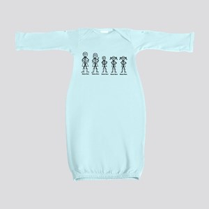 Super Family 1 Boy 2 Girls Baby Gown