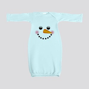 Snowman Face Baby Gown