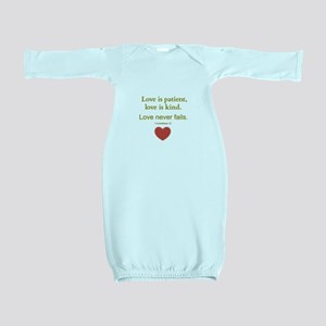 Love is Patient, Love is Kind Baby Gown
