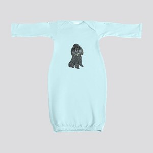 Poodle (Min-Slvr) Baby Gown
