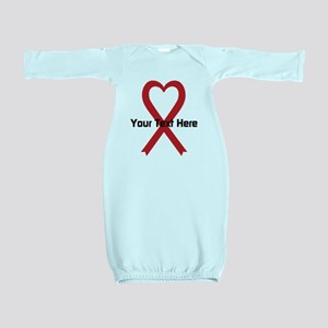 Personalized Red Ribbon Heart Baby Gown