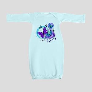 Bubble Butterflies CM BB Baby Gown
