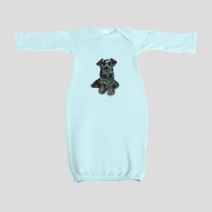 Schnauzer (gp-blk) Baby Gown