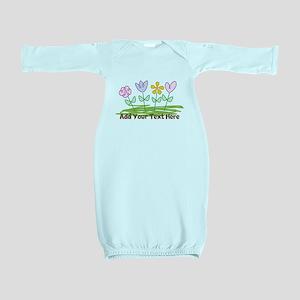 Custom Cute Flowers Baby Gown