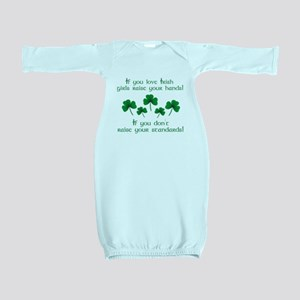 Raise Your Hands for Irish Girls Baby Gown