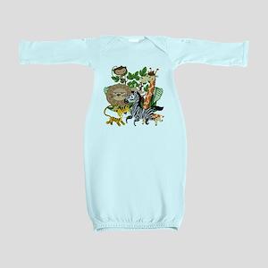 Animal Safari Baby Gown