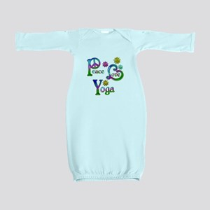 Peace Love Yoga Baby Gown