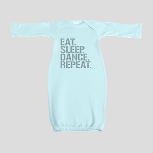 Eat Sleep Dance Repeat Baby Gown