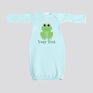 Personalizable Green Frog Baby Gown