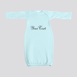 Personalizable Black Script Baby Gown