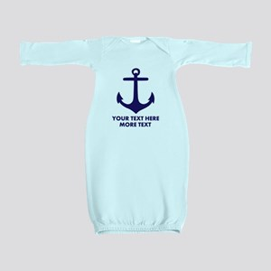 Nautical boat anchor Baby Gown