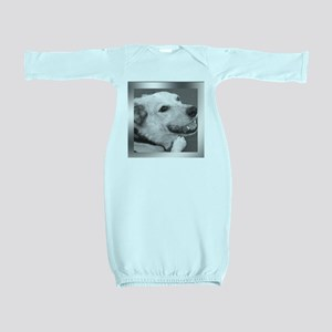 Your Photo in a Silver Frame Baby Gown