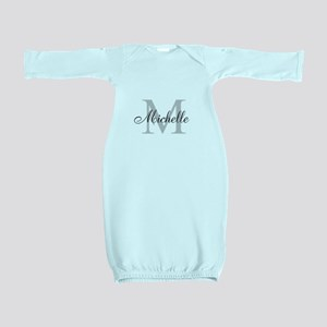 Personalized Monogram Name Baby Gown