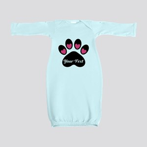Personalizable Paw Print Baby Gown