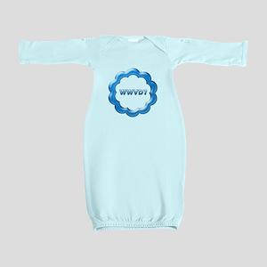 WWVD blue Baby Gown