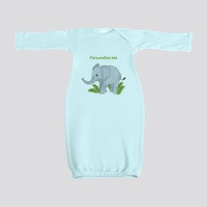 Personalized Elephant Baby Gown