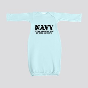 NAVY Baby Gown
