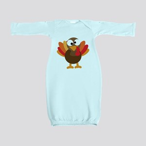 Funny Turkey Baby Gown