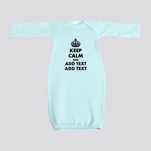 Personalized Keep Calm Baby Gown